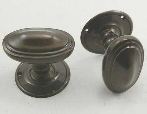 Ainslie Door Knobs, Applied Bronze ...