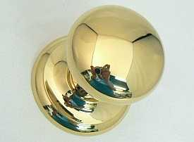 Albany Centre Door Knob, Stainless Brass