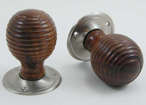 Carlton Beehive Wooden Door Knobs