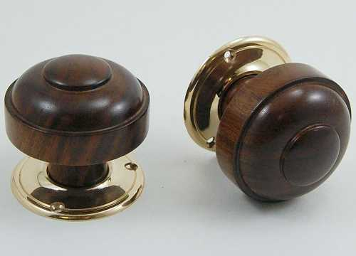 Ruskin Wooden Door Knobs Inbrass Co Uk