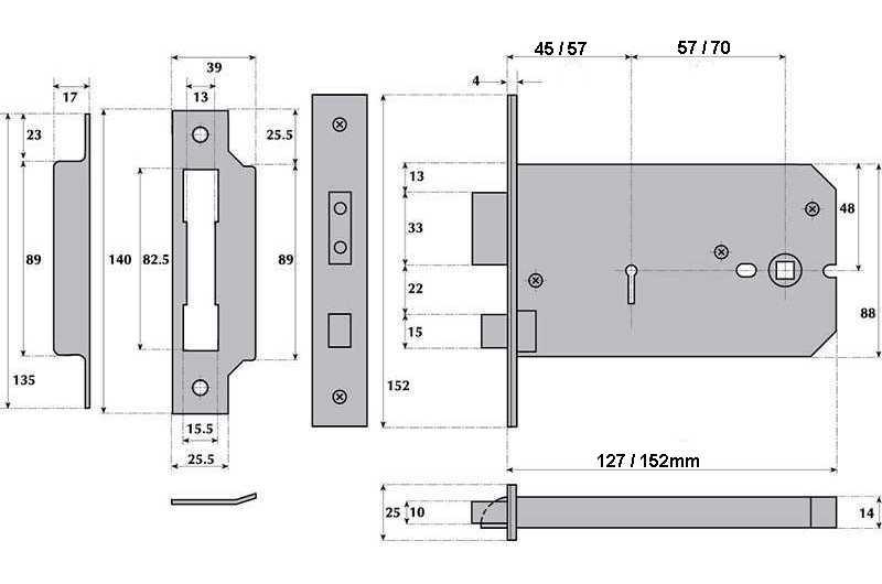 5 lever horizontal mortice lock g5011 g5012 inbrass. Black Bedroom Furniture Sets. Home Design Ideas