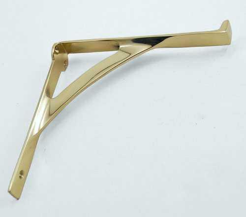 Brass Glass Shelf Bracket ...